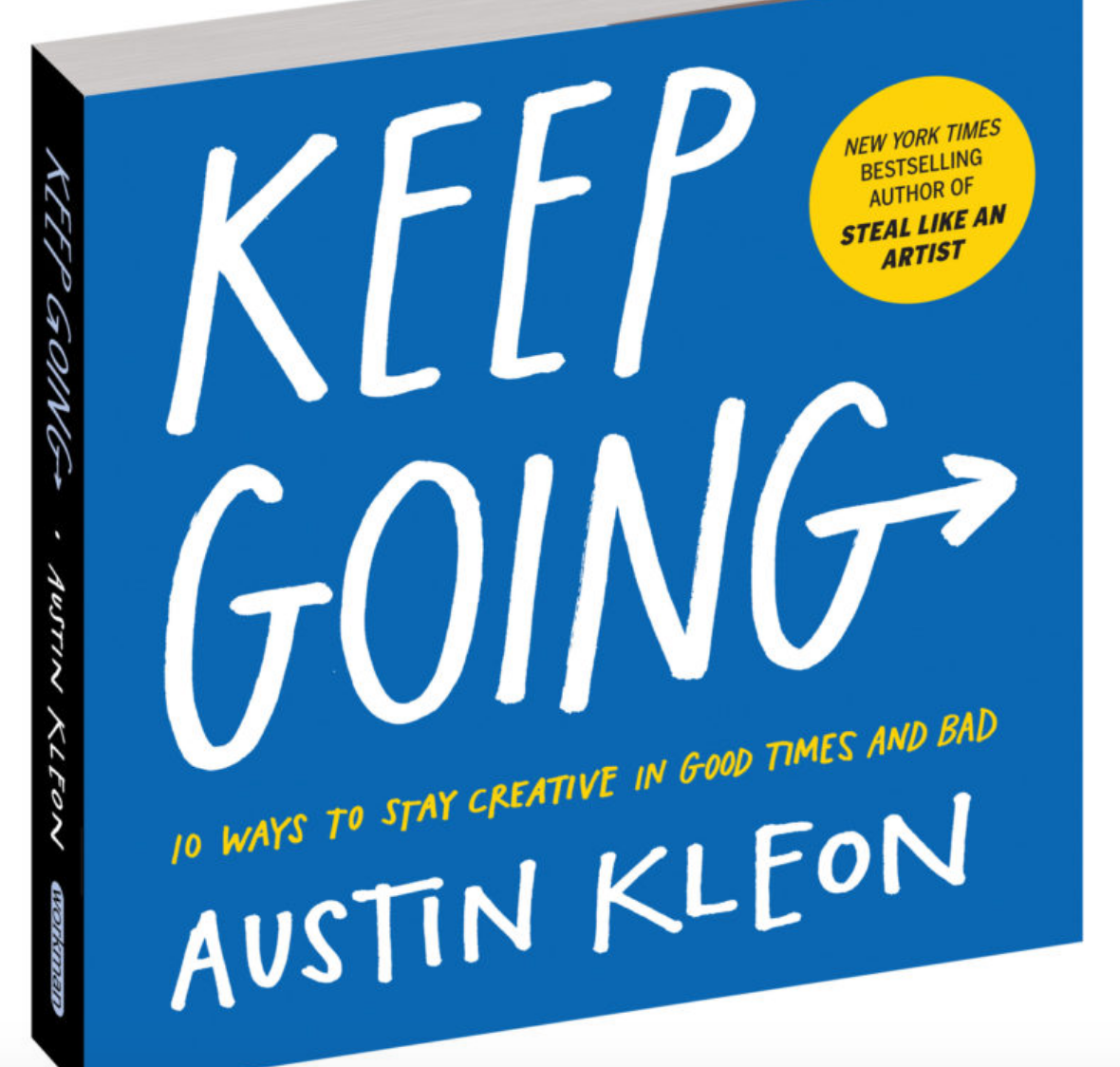 cover of Austin Kleon's book Keep Going